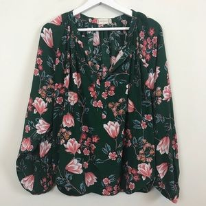 TAKING BEST OFFER❗️Atar'd State Green Floral Top